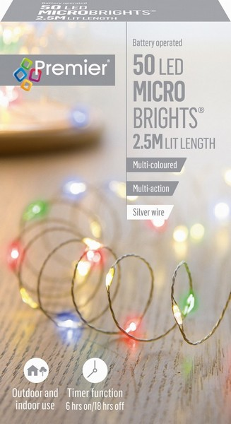 BATTERY MICROBRIGHTS MULTI 50 LED 2.4M
