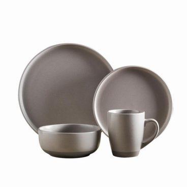 DINNER SET 16PC AVENA FOSSIL GREY